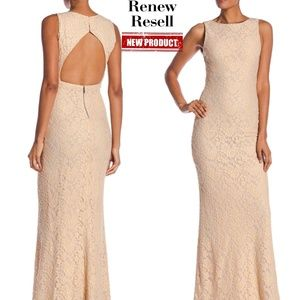 Alice + Olivia Open Back Lace Long Dress
